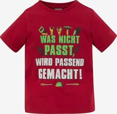 Kidsworld T-Shirt in grün / rot / weiß, Produktansicht