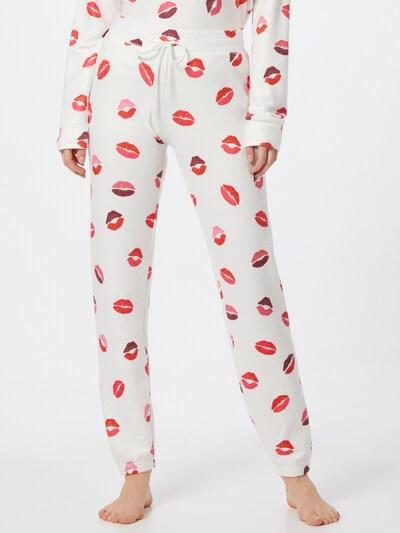 PJ Salvage Spodnji del pižame | lila / roza / rdeča / volneno bela barva: Frontalni pogled