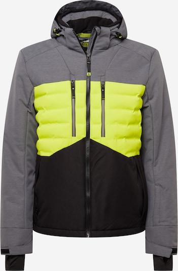 KILLTEC Sportjacke in dunkelgrau / neongrün / schwarz, Produktansicht