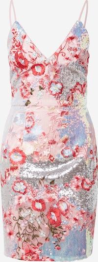Chi Chi London Robe en bleu / orange / rose clair / argent, Vue avec produit