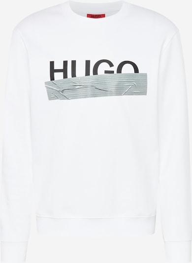 HUGO Sweatshirt 'Dicago' in grau / schwarz / naturweiß, Produktansicht