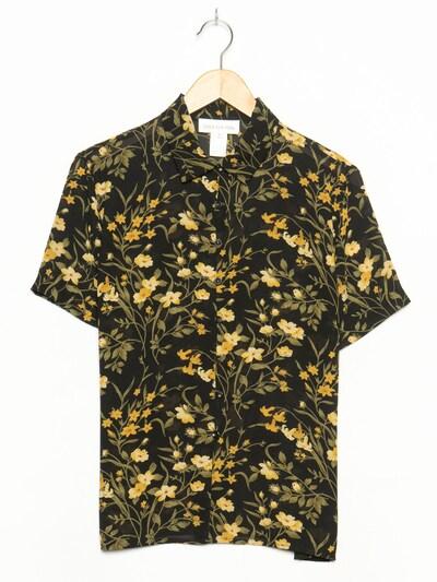 JONES NEW YORK Blumenbluse in L-XL in schwarz, Produktansicht