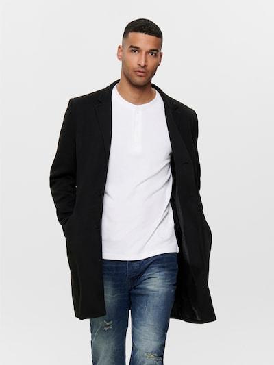 Only & Sons Between-seasons coat 'Julian King' in Black, View model