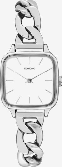 Komono Uhr in schwarz / silber / weiß, Produktansicht
