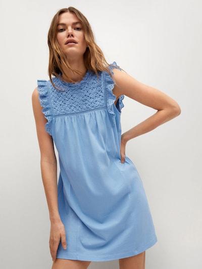 MANGO Kleid 'Petra' in hellblau, Modelansicht