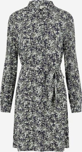 PIECES Рокля тип риза 'PAOLA' в тъмносиньо / маслина / черно / бяло, Преглед на продукта