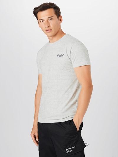 Superdry T-Shirt en bleu-gris / gris clair: Vue de face