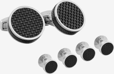 Tateossian London Manschettenknöpfe in schwarz / silber, Produktansicht
