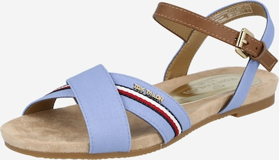 TOM TAILOR Сандали с каишка в пясъчен / опушено синьо / тъмносиньо / червено / бяло, Преглед на продукта