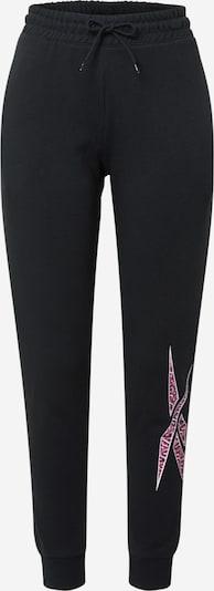 Reebok Sport Spordipüksid roosa / must, Tootevaade