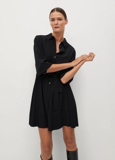 MANGO Blusenkleid 'leandra' in schwarz, Modelansicht