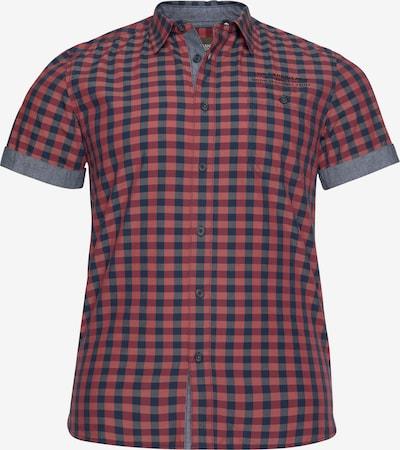 Man's World Hemd in blau / weinrot, Produktansicht