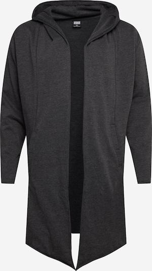 Džemperis 'Long Hooded Open Edge Cardigan' iš Urban Classics Big & Tall , spalva - margai pilka, Prekių apžvalga