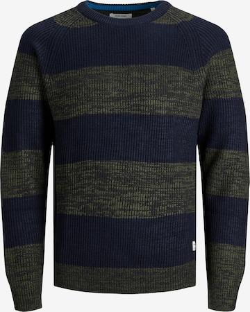 JACK & JONES Sweater 'PANNEL' in Green