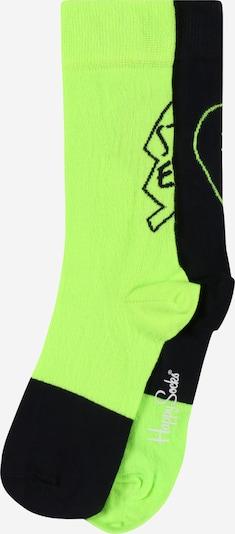Happy Socks Socken in neongrün / schwarz, Produktansicht