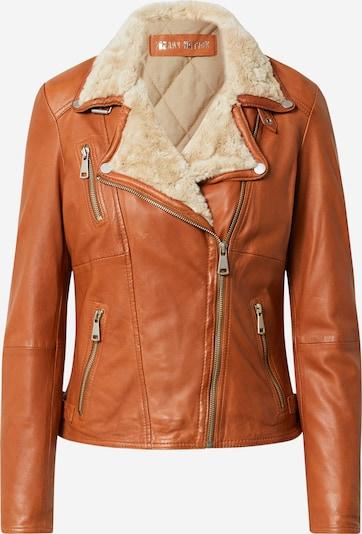 FREAKY NATION Jacke in kitt / cognac, Produktansicht