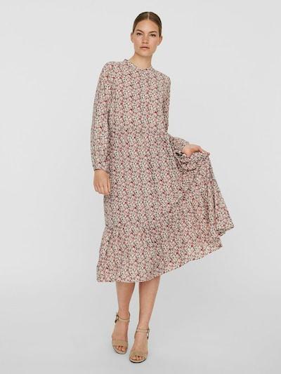 VERO MODA Košeľové šaty - béžová / tmavozelená / ružová / ružová, Model/-ka