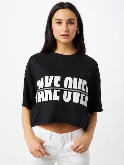 Tally Weijl T-shirt en noir / blanc, Vue avec modèle