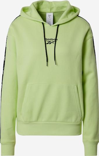 REEBOK Sportska sweater majica u svijetlozelena / crna / bijela, Pregled proizvoda