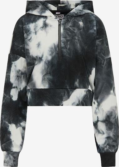 myMo ATHLSR Sweatshirt in dunkelblau / schwarz / weiß, Produktansicht