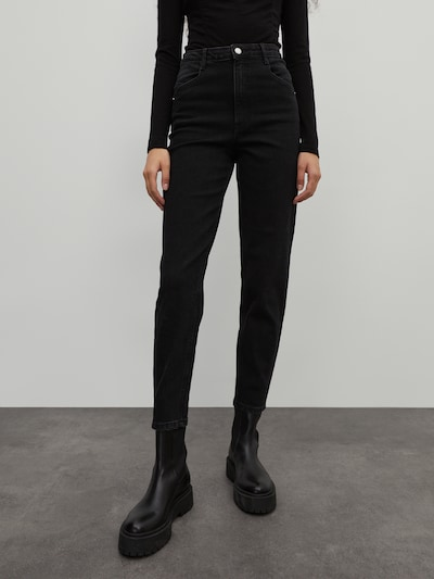 EDITED Džinsi 'Jeylana' melns, Modeļa skats