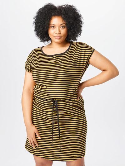 Rochie ONLY Carmakoma pe galben deschis / negru, Vizualizare model