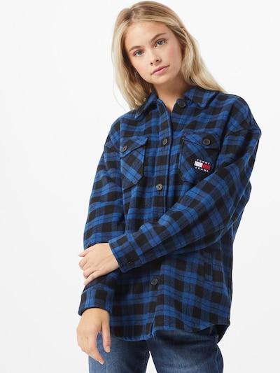 Tommy Jeans Bluse in blau, Modelansicht