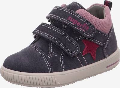SUPERFIT Sneaker 'MOPPY' en anthrazit / altrosa / weinrot, Vue avec produit