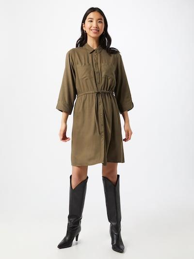 ONLY Robe-chemise 'TAMARI' en olive, Vue avec modèle