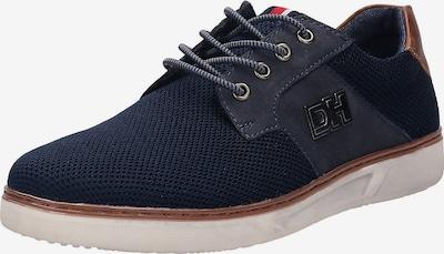 DANIEL HECHTER Schnürschuh 'Leroy' in dunkelblau / braun, Produktansicht