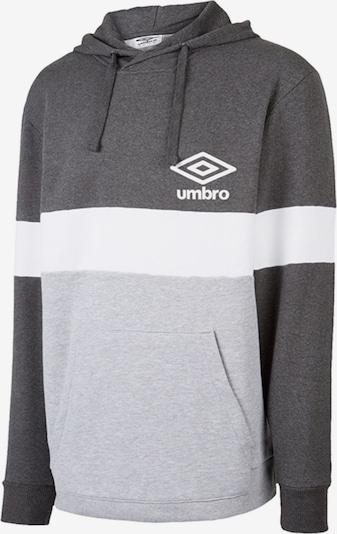 UMBRO Sweatshirt in hellgrau / dunkelgrau / weiß, Produktansicht