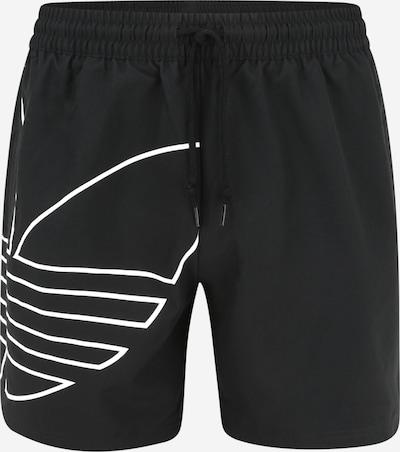 ADIDAS ORIGINALS Kratke kopalne hlače | pegasto črna / bela barva, Prikaz izdelka