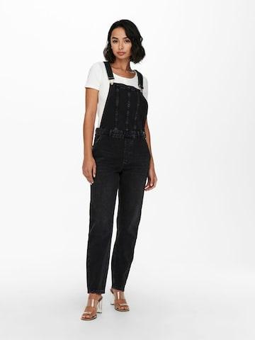 ONLY Tuinbroek jeans 'ONLPERCY' in Zwart