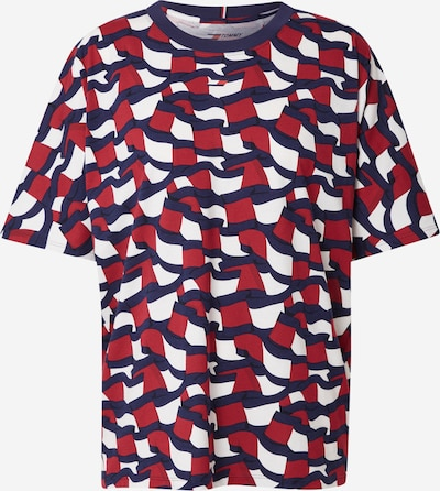 Tommy Sport Sporta krekls, krāsa - tumši zils / sarkans / balts, Preces skats