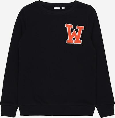 NAME IT Sweatshirt in nachtblau / dunkelorange / schwarz / weiß, Produktansicht