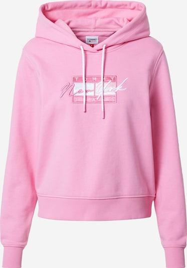 Tommy Jeans Sweatshirt i rosa / vit, Produktvy