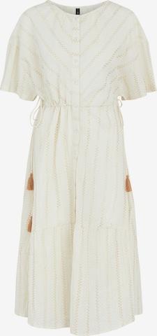 Rochie tip bluză 'Falak' de la Y.A.S pe alb