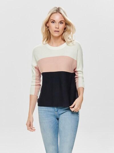 ONLY Pullover in blau / rosa / weiß, Modelansicht