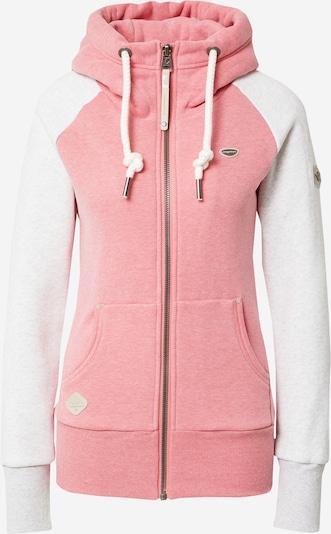 Ragwear Sweatjacke 'Neska' in pink / weißmeliert, Produktansicht