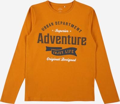 NAME IT Shirt 'VUX' in de kleur Donkerblauw / Sinaasappel / Wit, Productweergave