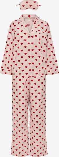 ONLY Pajama 'Ellie' in Dusky pink / Red, Item view