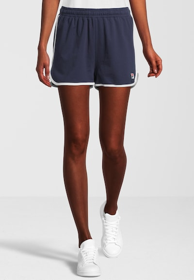 FILA Shorts WOMEN HUYEN shorts in blau, Modelansicht