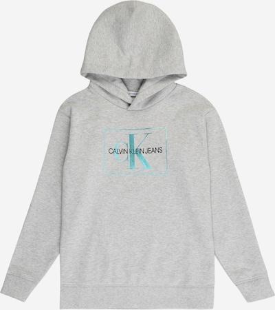 Calvin Klein Jeans Hoodie in türkis / hellgrau / schwarz, Produktansicht