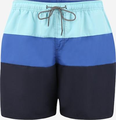 Jack & Jones Plus Zwemshorts 'BALI' in de kleur Navy / Hemelsblauw / Mintgroen, Productweergave