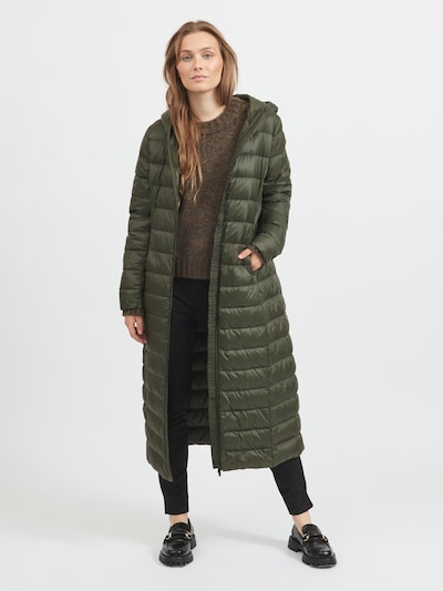 VILA Mantel 'Manya' in oliv / dunkelgrün, Modelansicht