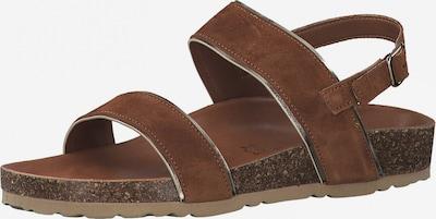 MARCO TOZZI Páskové sandály - sépiová / stříbrná, Produkt