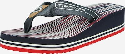 TOM TAILOR Zehentrenner in navy / rot / weiß, Produktansicht