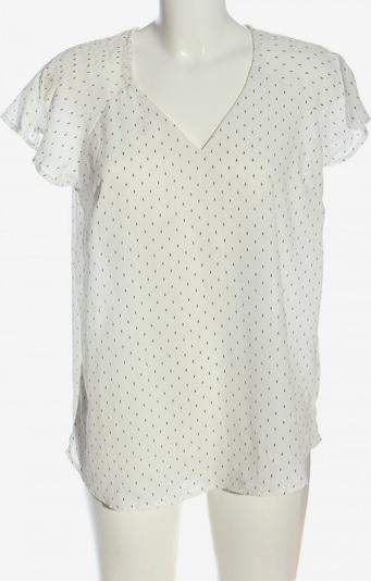 Infinity woman Kurzarm-Bluse in XL in schwarz / wollweiß, Produktansicht