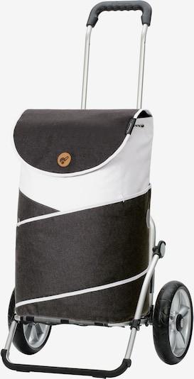 Andersen Shopper Einkaufstrolley 'Royal Shopper Jarl' in anthrazit / weiß, Produktansicht