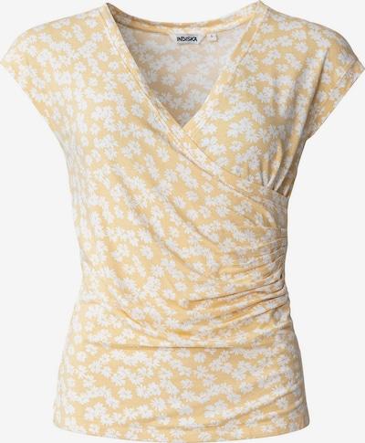 Indiska T-Shirt 'Tawny' in gelb / weiß, Produktansicht